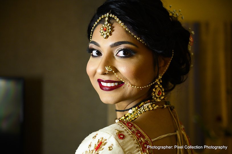 Wonderful indian bride makeup and accessories