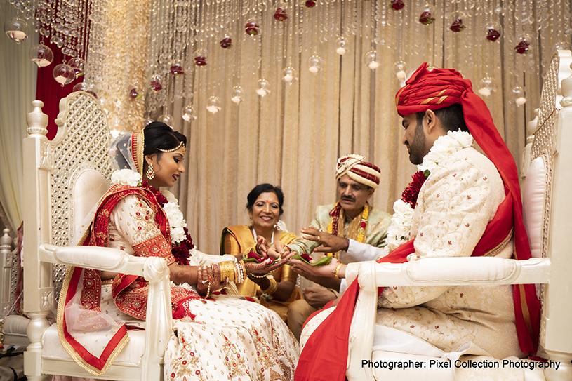 Fabulous Indian Couple at Wedding Ritual