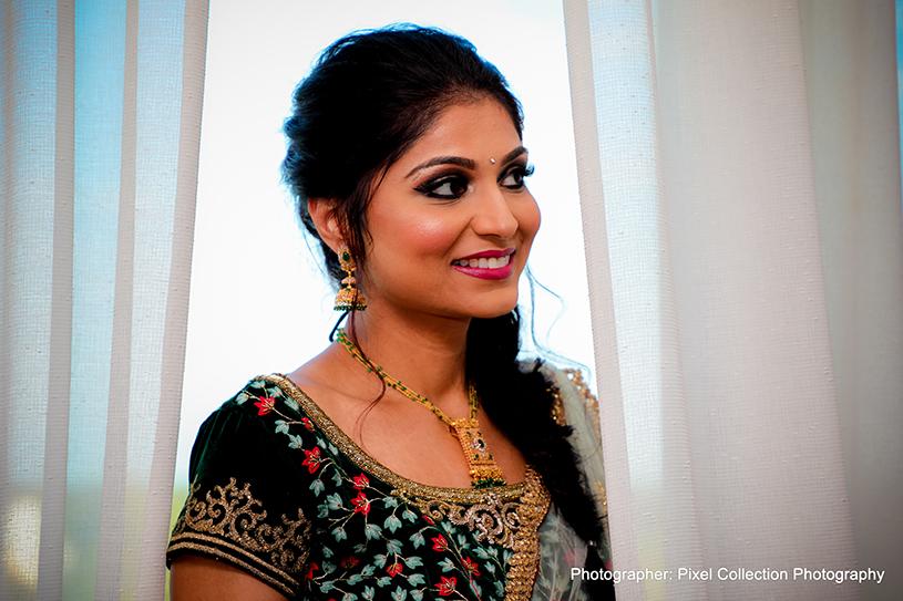 Adorable indian bride portrait