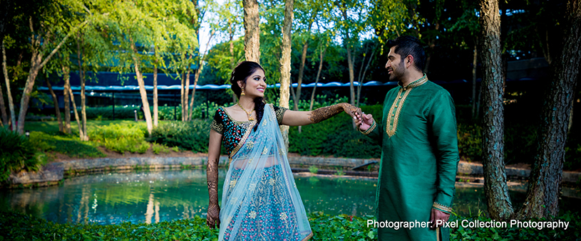 See this lovely outdoor indian couple photography