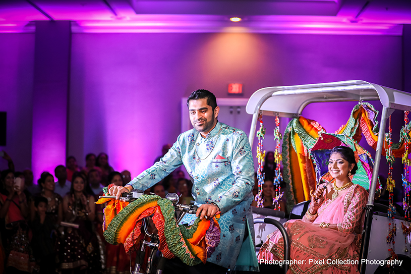 See this original indian groom and bride entrance