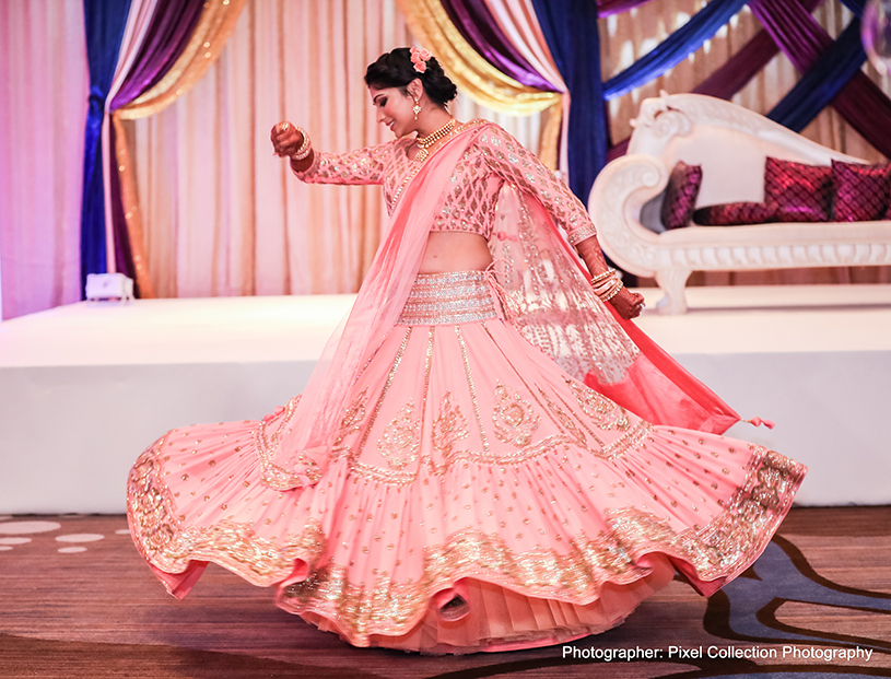 Amazing indian bride performance
