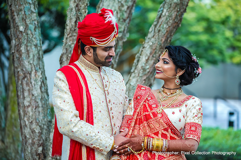 Indian Newly Weds Outdoor Photoshoot