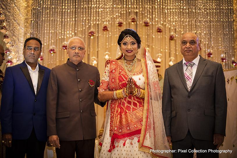 Indian Bride Greeting family Members
