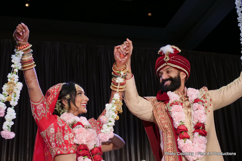 Indian Couple after wedding ceremony