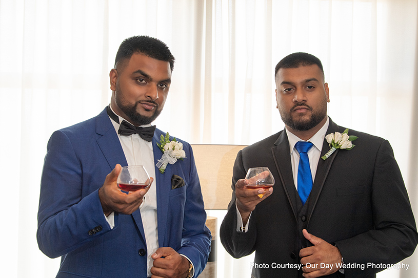 Groom Posing With His Friend