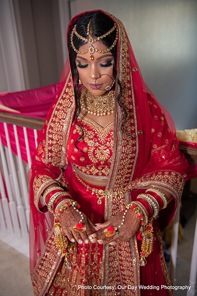 Wedding outfit of indian Bride