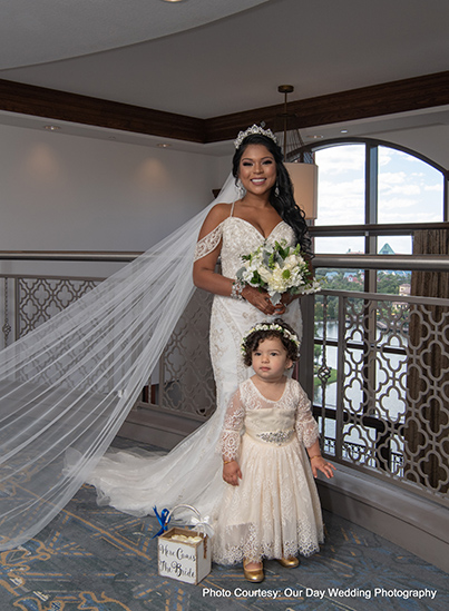 Gorgeous indian bride with cute little Baby