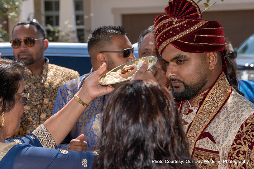 Indian groom waiting for bride to arrive