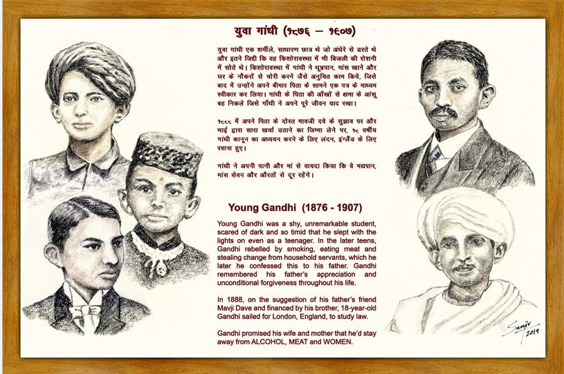 Sketches of Gandhiji