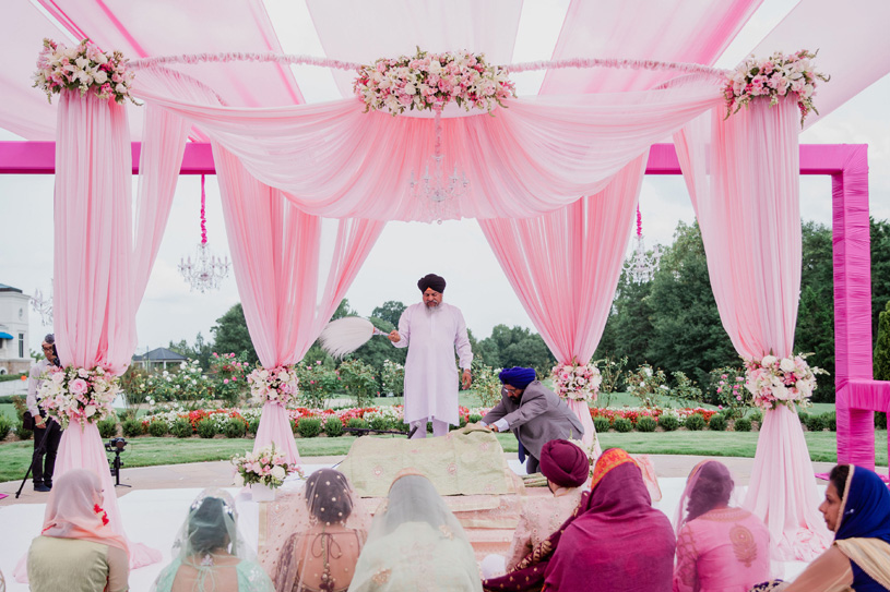 Pink and Peach indian wedding Decoration