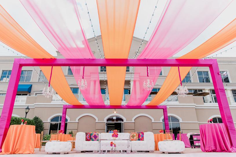 Pink and Orange Decoration