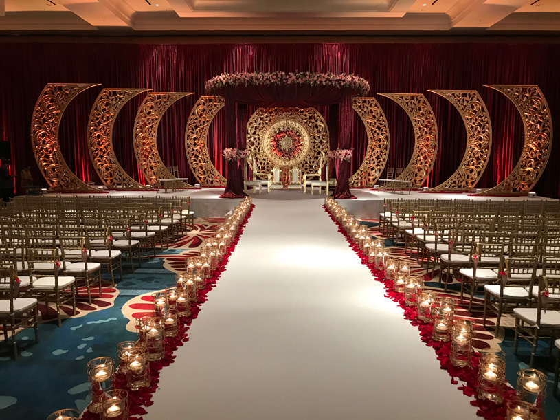 Beautiful Reception stage Decoration with floral