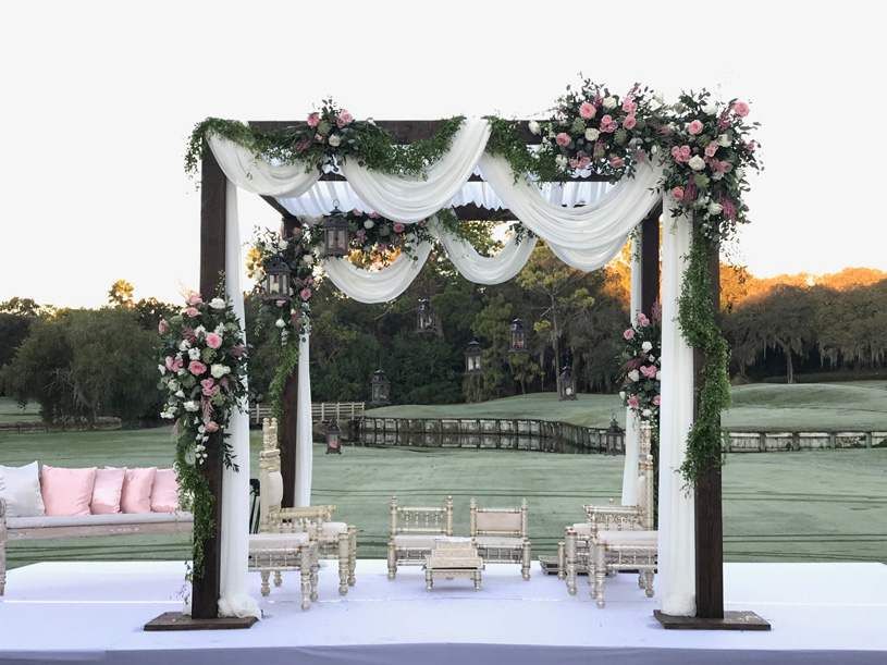 Victorian Themed Wedding Stage Decoration