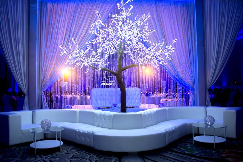 Blue Lighting effect looks elegant