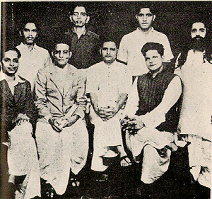 Group photo of accused of Mahatma Gandhi assassination.