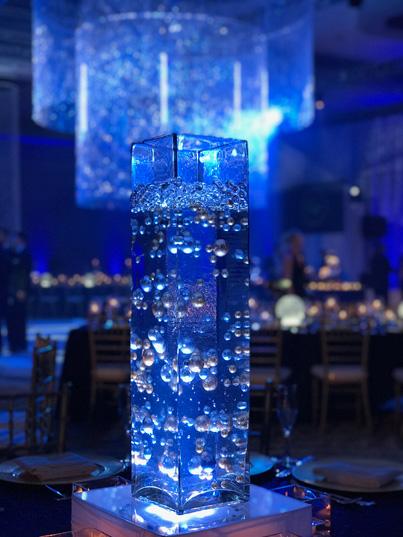 Wonderful blue coloured light at Indian Wedding