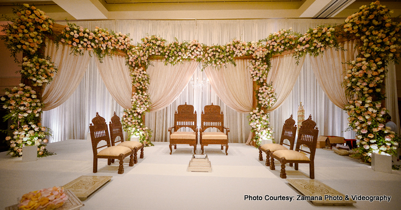 Creative indian wedding reception decor