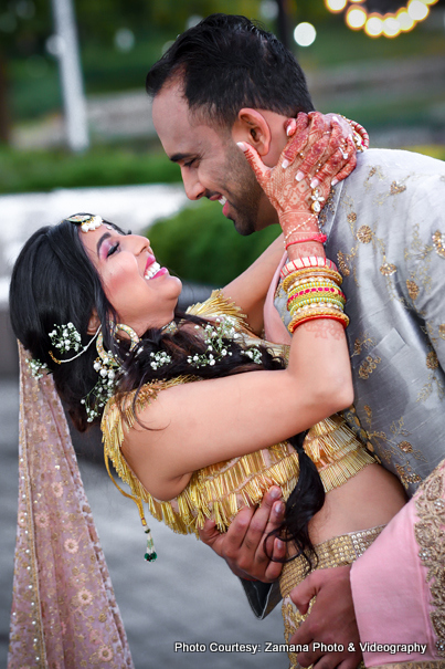 Most Romantic Movement of Indian Bride and Groom Captured by Zamana Photo and Videography