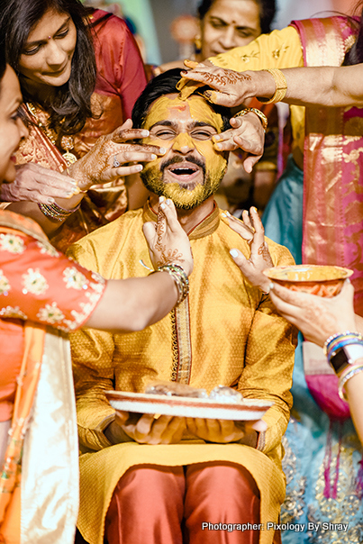 Haldi For the groom