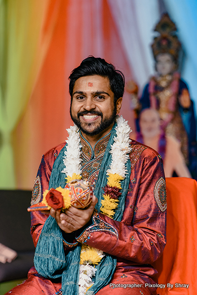 Portrait look of Indian Groom