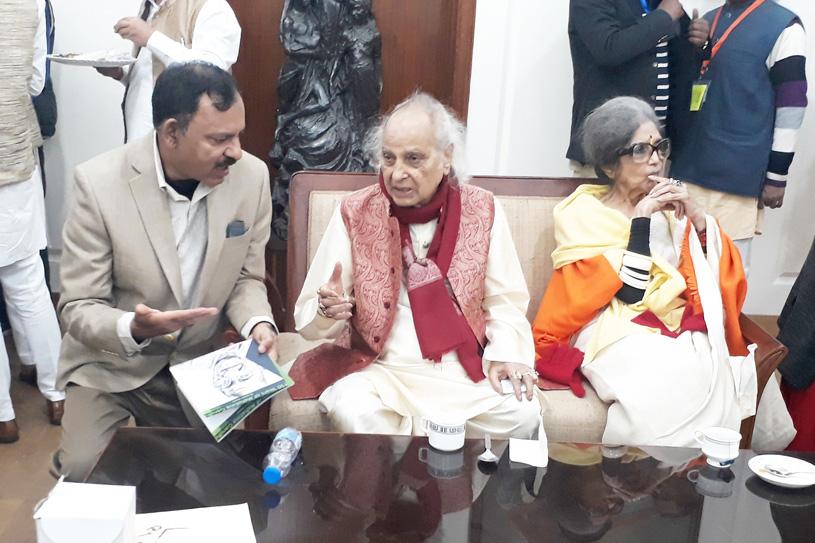 Tara Gandhi Bhattacharjee and Martand Pandit Jasraj
