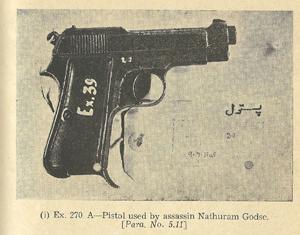 Pistol Used by assassin natharam godse
