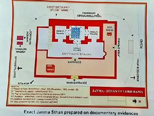 Map torn apart by Muslim counsel Rajeev Dhavan in Supreme Court