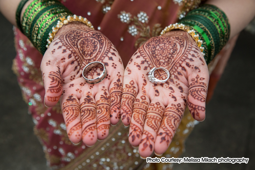 To enhance the color outcome, a mixture of lemon juice and sugar is applied to the Mehndi