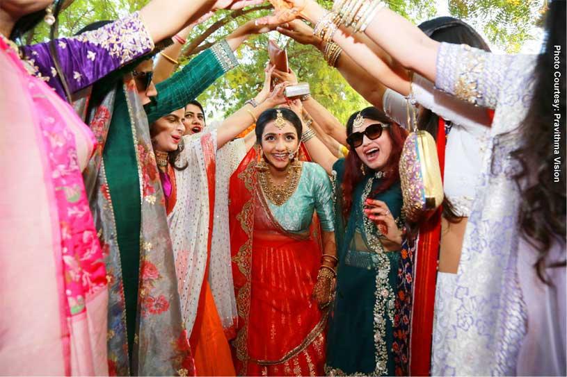 Bride Entering the Baraat ceremony