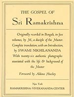 The Gospel of Sri Ramakrishna by Swami Nikhilananda