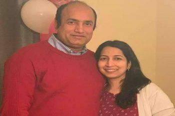 Devesh Ranjan and his wife, Kumuda Ranjan