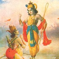 Krishna Tells Gita To Arjuna 1