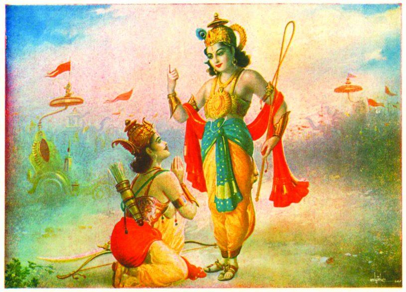Krishna tells Gita to Arjuna