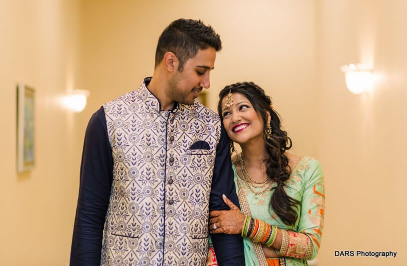 Indian Bride and Groom Posing