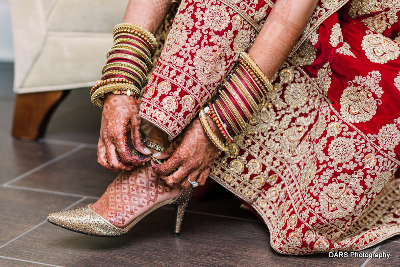 Indian Bride wearing Heels
