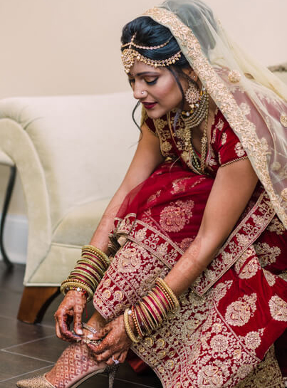 Indian Bride Wearing Ghunghroo