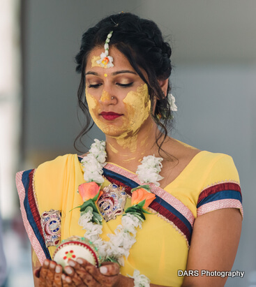 Haldi ceremony Picture of Indian Bride