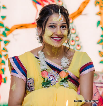 Amazing Capture Of Indian Bride at Haldi ceremony