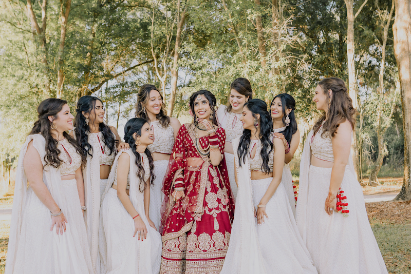 Beautiful Capture of Indian bride with Bridesmaid by Noor K Photography