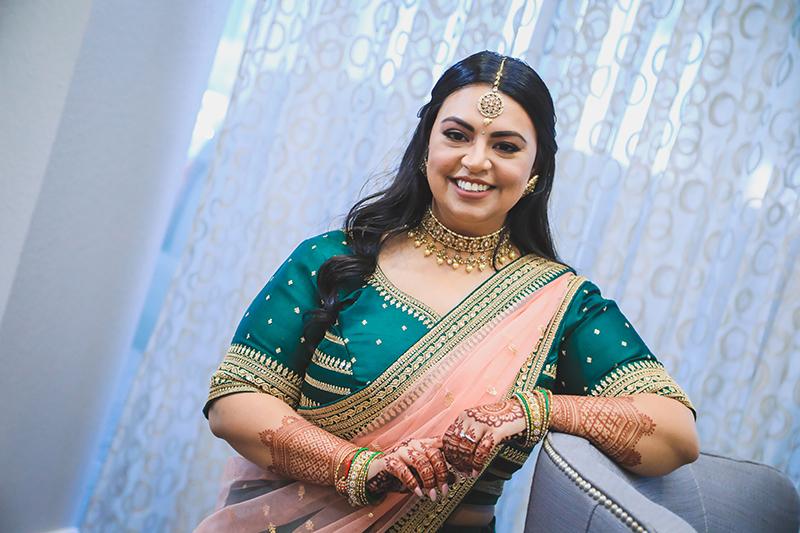 Portrait capture of Indian Bride by NSPG Media