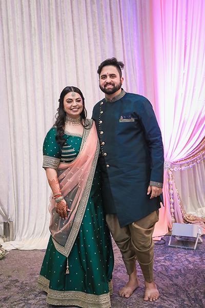 Indian wedding mehndi outfit