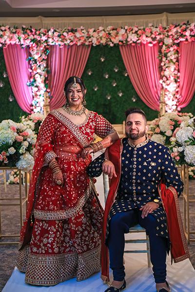 Amazing flower decor at Indian wedding