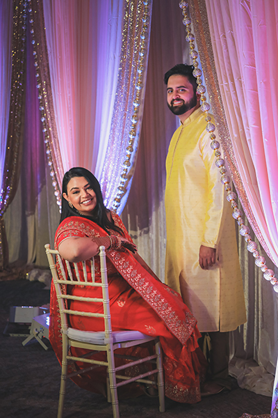 Haldi Outfit of Indian wedding couple