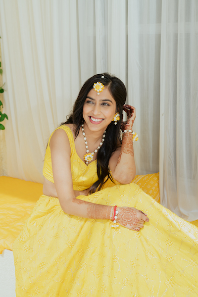 Indian Bride wear flower jwelery