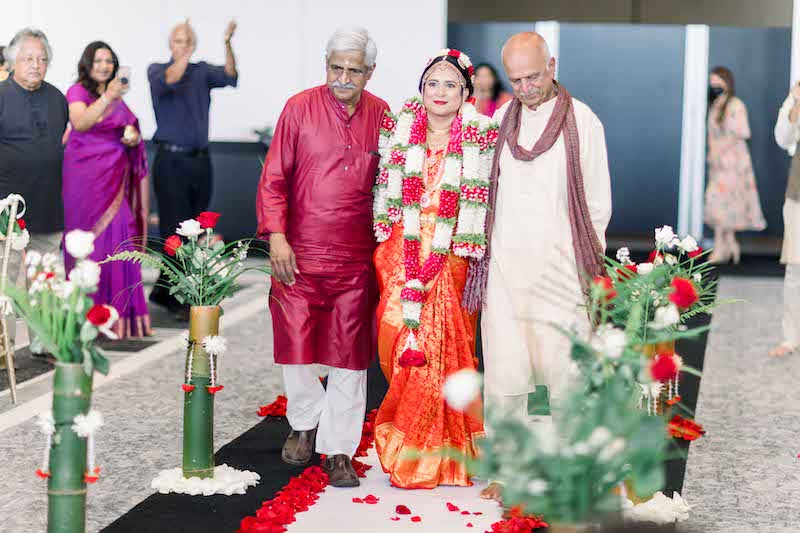 Indian Bride Entering the wedding Venue