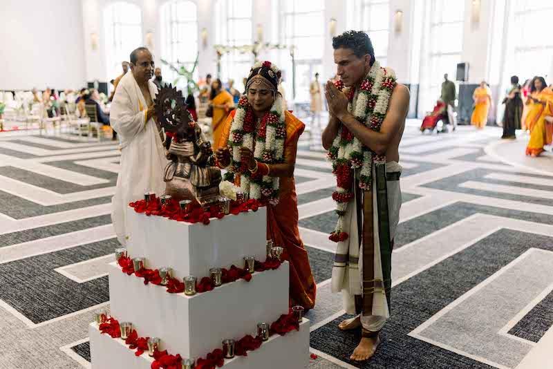 Indian Couple worship to god
