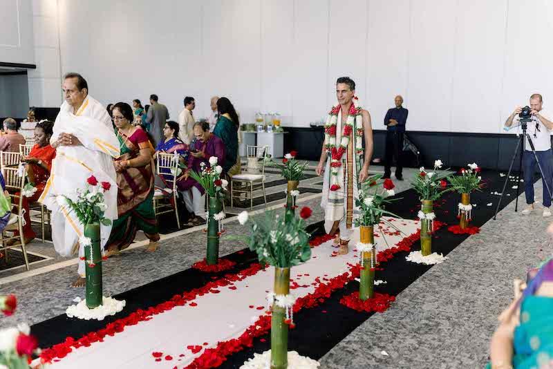 Bengali wedding entry of Groom