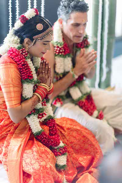 Indian Couple worshipping to almighty