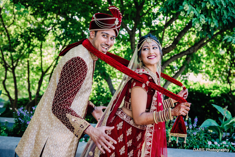 Indian Couple Posing Before the Wedding